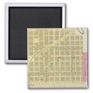 Howard and Grenola, Elk County, Kansas 2 Inch Square Magnet