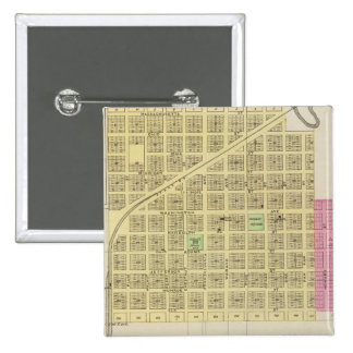 Howard and Grenola, Elk County, Kansas 2 Inch Square Button