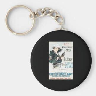 Howard Chandler Christy Join The Navy Keychain