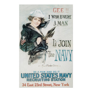Howard Chandler Christy Join The Navy Poster