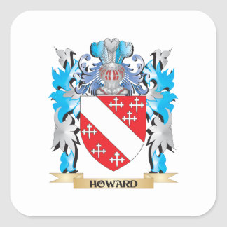 Howard Coat of Arms - Family Crest Square Stickers