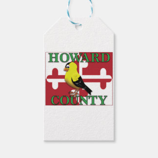 HOWARD COUNTY with goldfinch Gift Tags