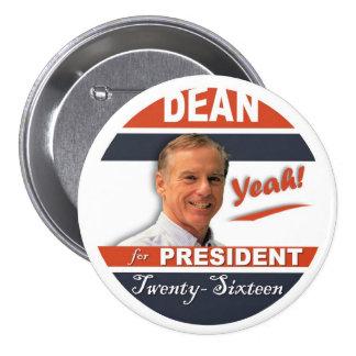 ¡Howard Dean para el presidente 2016 sí! Pin