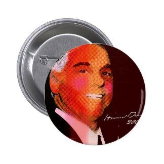 Howard_Dean_Pop Pin Redondo De 2 Pulgadas