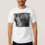 Howard Hughes en el avión de madera del ganso Playera