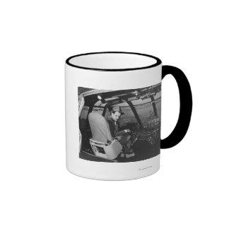 Howard Hughes in Spruce Goose Wooden Plane Ringer Mug