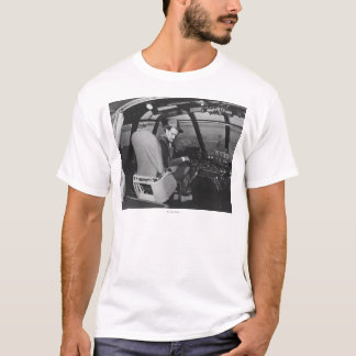 Howard Hughes in Spruce Goose Wooden Plane T-Shirt