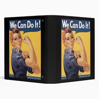Howard Miller We Can Do It Rosie the Riveter 3 Ring Binder