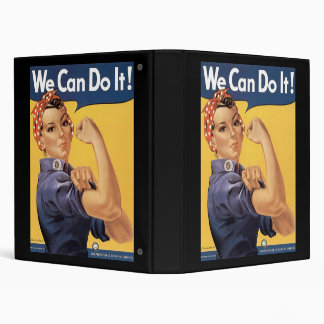 Howard Miller We Can Do It Rosie the Riveter Vinyl Binders
