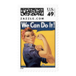 Howard Miller We Can Do It Rosie the Riveter Postage Stamps