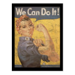Howard Miller We Can Do It Rosie the Riveter Post Card