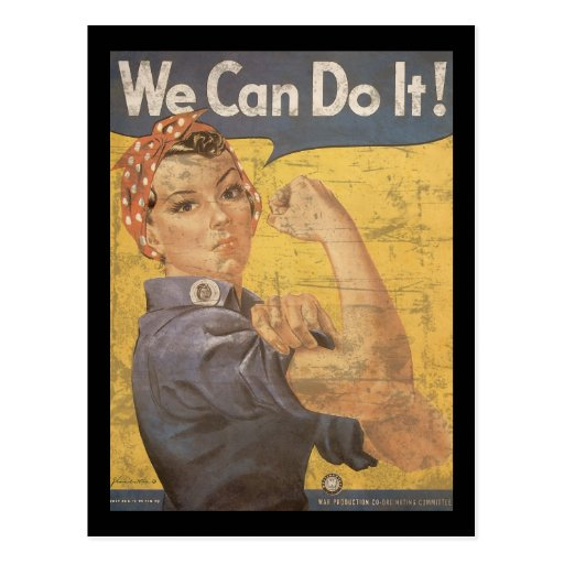 Howard Miller We Can Do It Rosie the Riveter Postcard