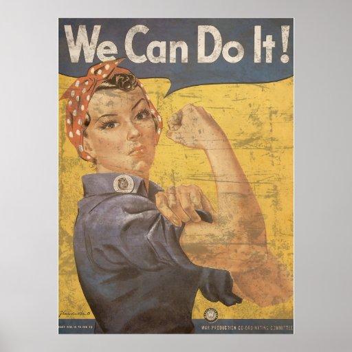 Howard Miller We Can Do It Rosie the Riveter Print