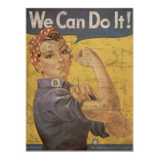 Howard Miller We Can Do It Rosie the Riveter Print