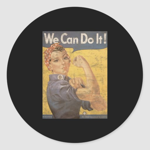 Howard Miller We Can Do It Rosie the Riveter Sticker