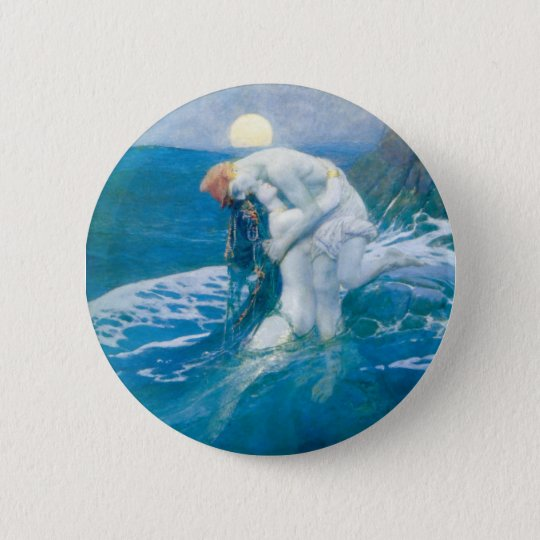 "Howard Pyle's ""The Mermaid"" Button"