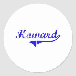 Howard Surname Classic Style Round Stickers