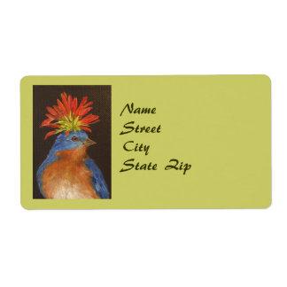 Howard the bluebird address label