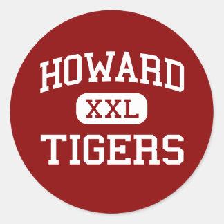 Howard - tigres - alto - Chattanooga Tennessee Pegatinas Redondas