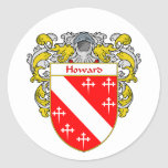 Howard Welsh Coat of Arms (Mantled) Stickers