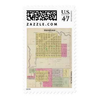 Howard y Grenola, el condado de Elk, Kansas Timbres Postales