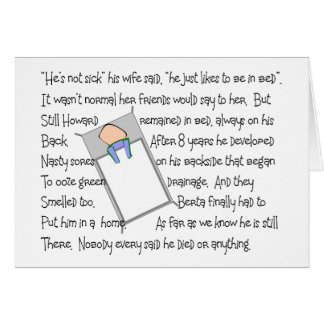 """""""Howards Bedsores""""  Twisted Story Art Gifts Cards"""