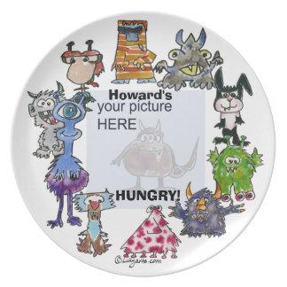 Howard's Hungry Cartoon Monsters Custom Plate