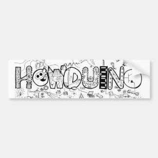 Howduino Bumper Sticker