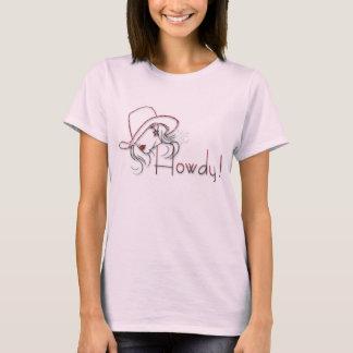 howdy camisa rosada de la vaquera