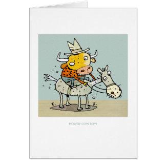 Howdy Cow-Boy! Card