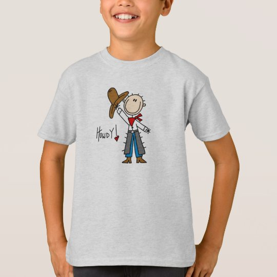 Howdy! Cowboy Stick Figure Shirt