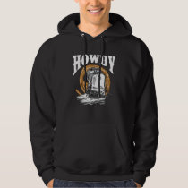 Howdy Cowboy Wild West Lasso boots Rodeo Hoodie