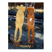 Howdy Cowboys Postcard