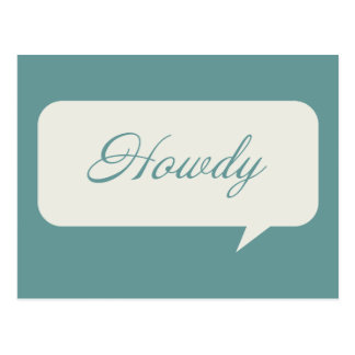 Howdy Customizable Postcards