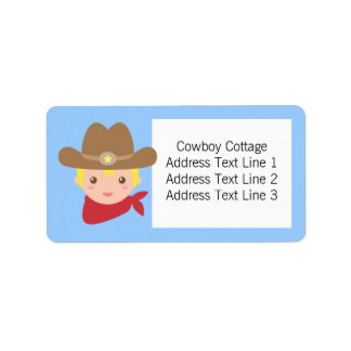 Howdy, Cute Cowboy for little boys Personalized Address Labels