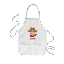 Howdy, Cute Cowboy for Little Cooks Kids' Apron