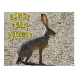 Howdy de Arizona Tarjeta Postal