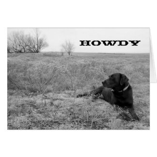 Howdy Dog in Field Greeting Card