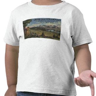 Howdy (escena de la montaña y de la pradera) camiseta