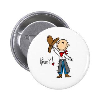 ¡Howdy! Figura botón del palillo del vaquero