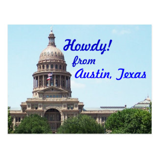 Howdy from Austin Postcard