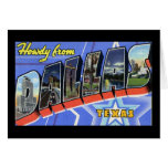 Howdy from Dallas Texas Greeting Card