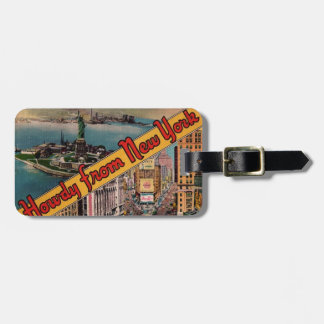 Howdy from New York Bag Tag