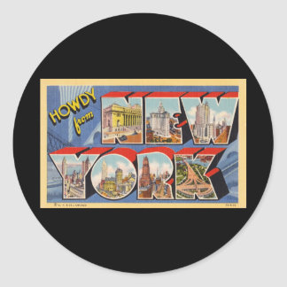 Howdy from New York Classic Round Sticker