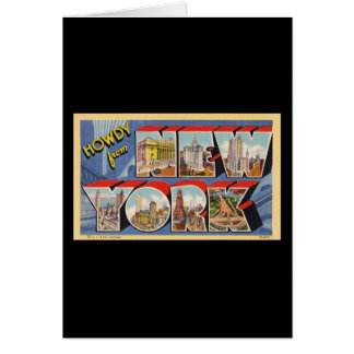 Howdy from New York Greeting Card