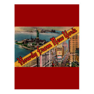 Howdy from New York Postcard