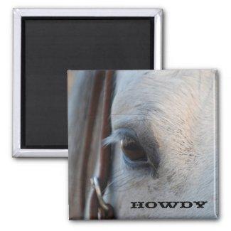 Howdy Horse Magnet magnet