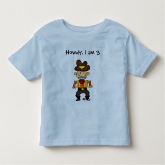 Howdy, I am 3 Toddler T-shirt