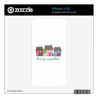 Howdy Neighbor Decal For iPhone 4