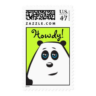 Howdy Panda Postage Stamp